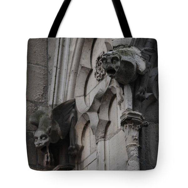 Notre Dame Grotesques Tote Bag by Christopher Kirby