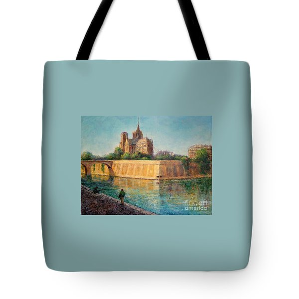 Notre Dame In Sunshine Tote Bag