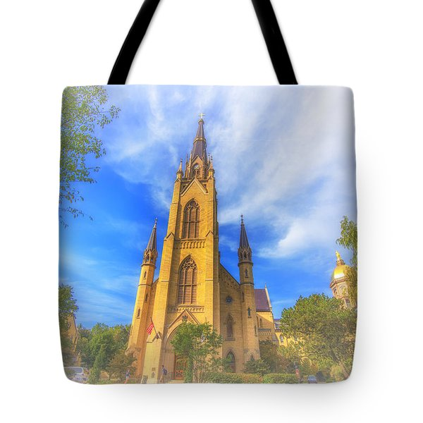 Notre Dame University 5 Tote Bag by David Haskett