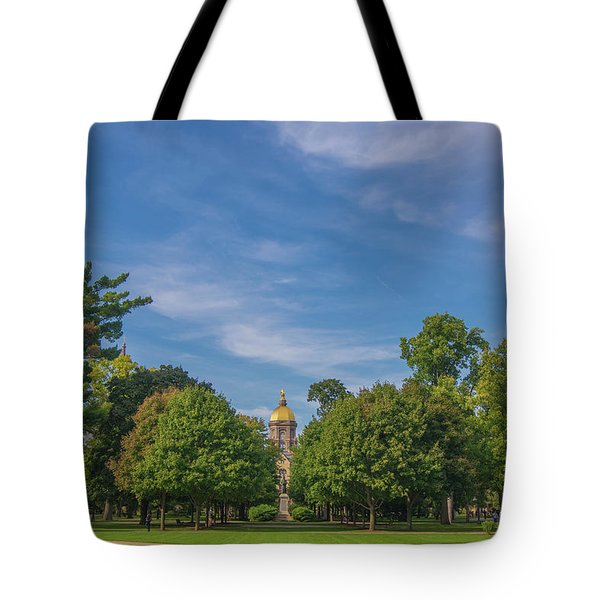 Notre Dame University 6 Tote Bag by David Haskett