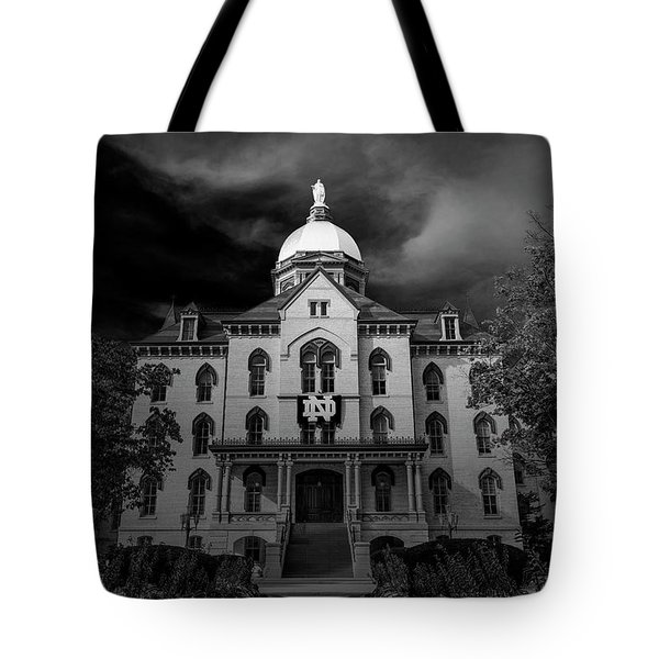 Notre Dame University Black White 3a Tote Bag by David Haskett