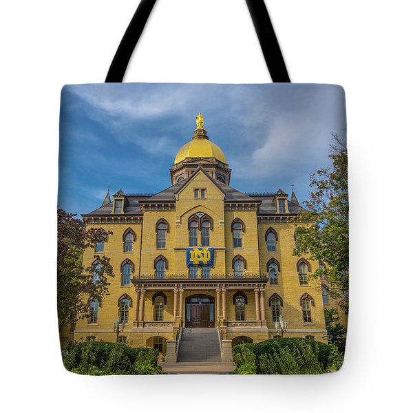 Notre Dame University Golden Dome Tote Bag by David Haskett