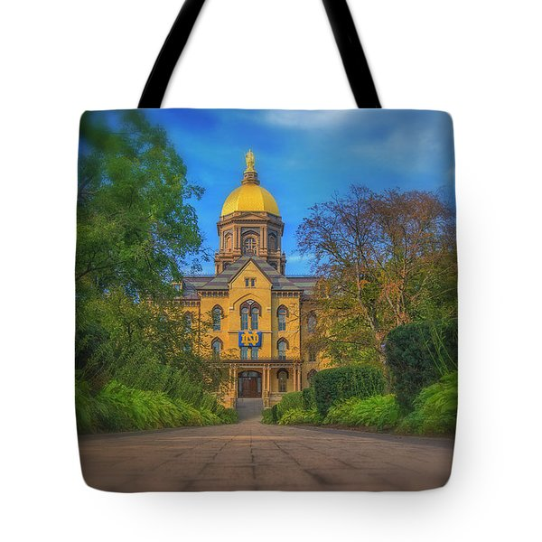 Notre Dame University Q2 Tote Bag by David Haskett