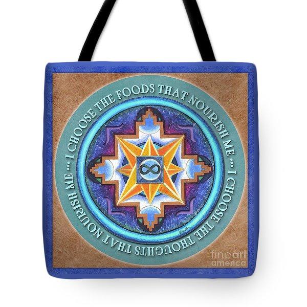 Nourish Mandala Prayer Tote Bag