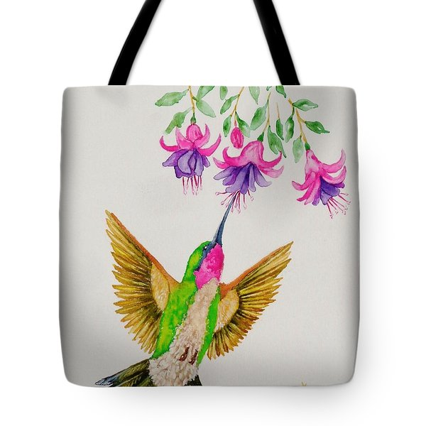 Tote Bag featuring the painting Nourishment  by Katherine Young-Beck