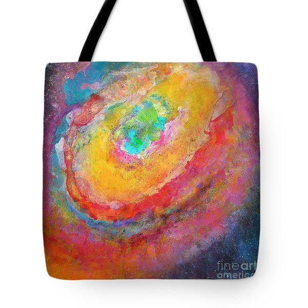 Fantasies In Space Series Painting. Aurora Concerto.  Tote Bag