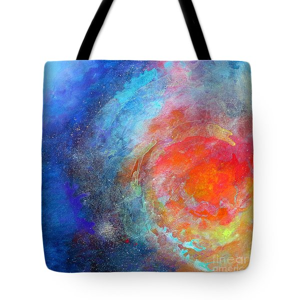Fantasies In Space Series Painting. Nova Concerto. Acrylic Painting. Tote Bag