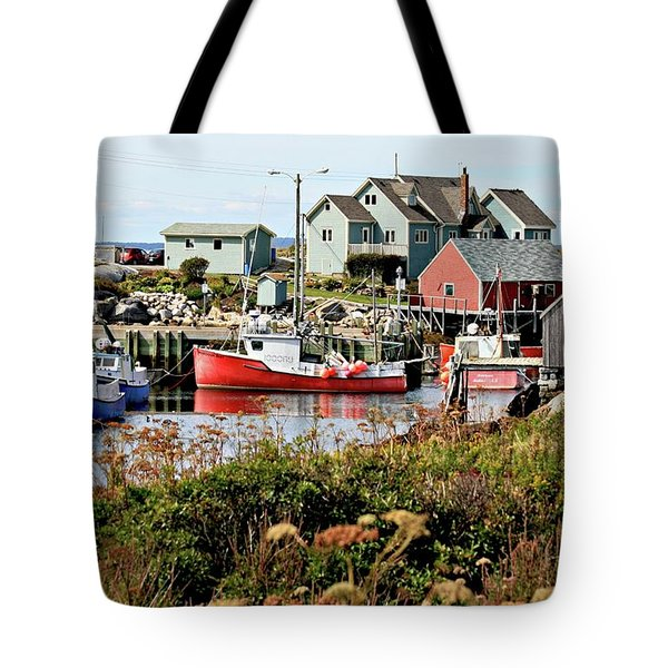 Nova Scotia Fishing Community Tote Bag