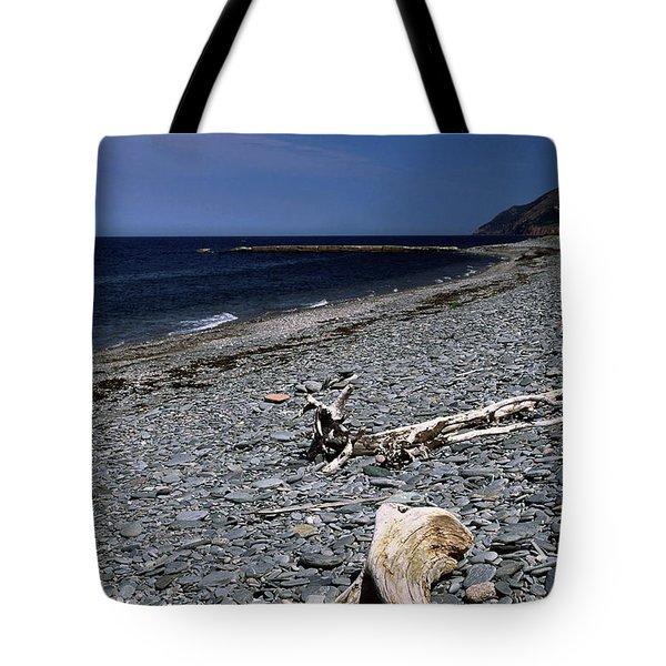 Nova Scotia Pebble Beach Tote Bag by Sally Weigand