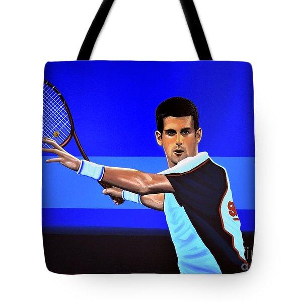 Novak Djokovic Tote Bag