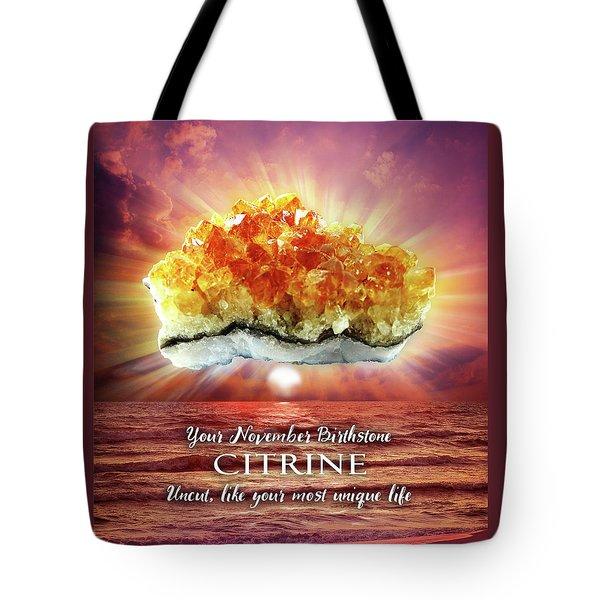 November Birthstone Citrine Tote Bag