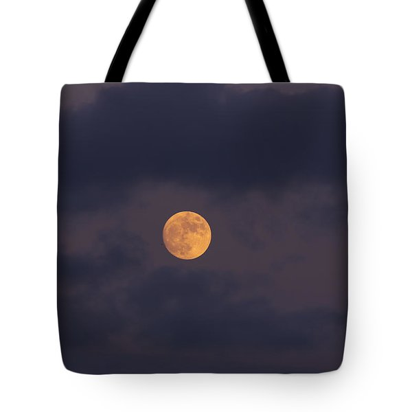 November Full Moon With Plane Tote Bag by Angela A Stanton