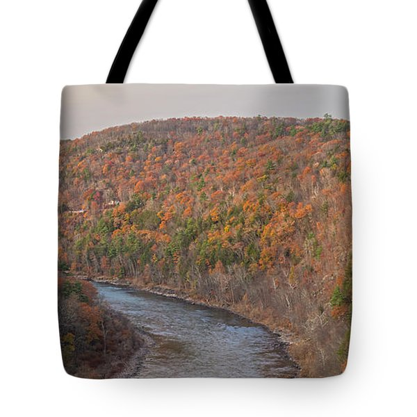 November Golden Hour At Hawk's Nest Tote Bag