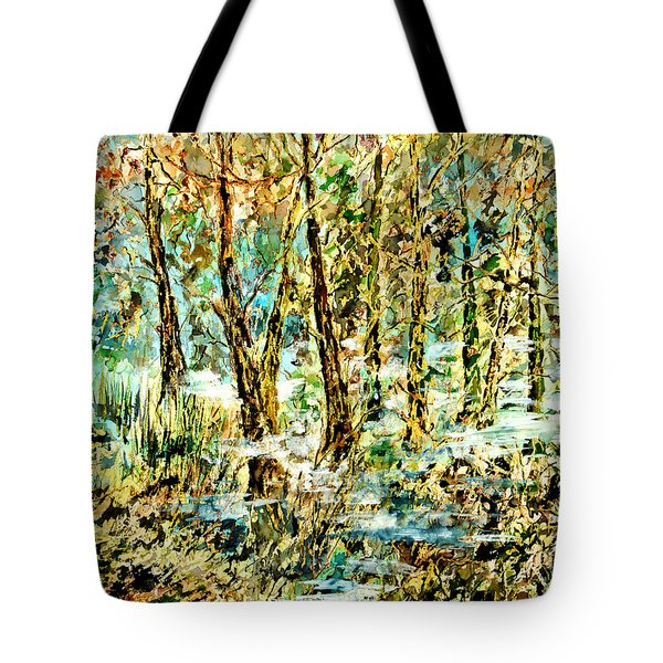 Tote Bag featuring the painting November Morn by Alfred Motzer