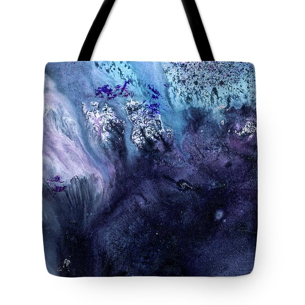 November Rain - Contemporary Blue Abstract Painting Tote Bag