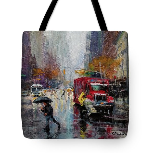 November Rain Tote Bag by Peter Salwen