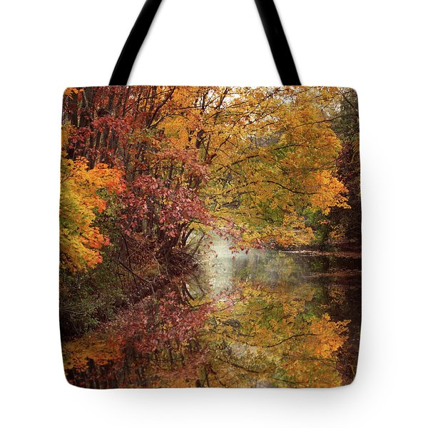 Tote Bag featuring the photograph November Reflections by Jessica Jenney
