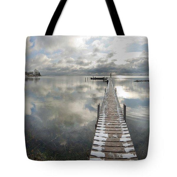 November Skies Tote Bag by Robert Lacy