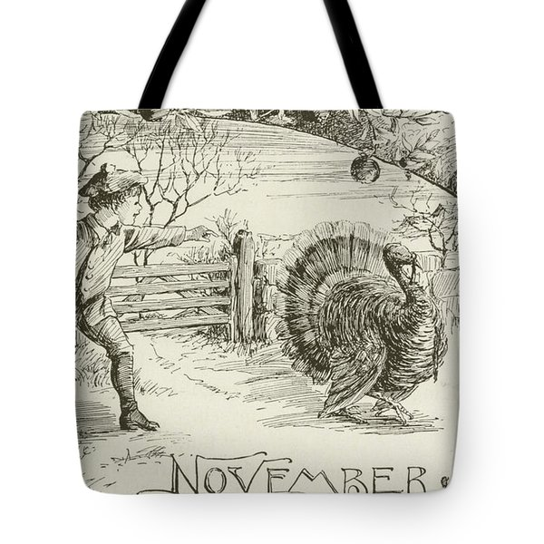 November   Vintage Thanksgiving Card Tote Bag by American School