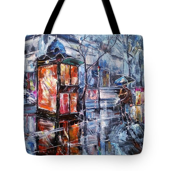 November Walk II Tote Bag