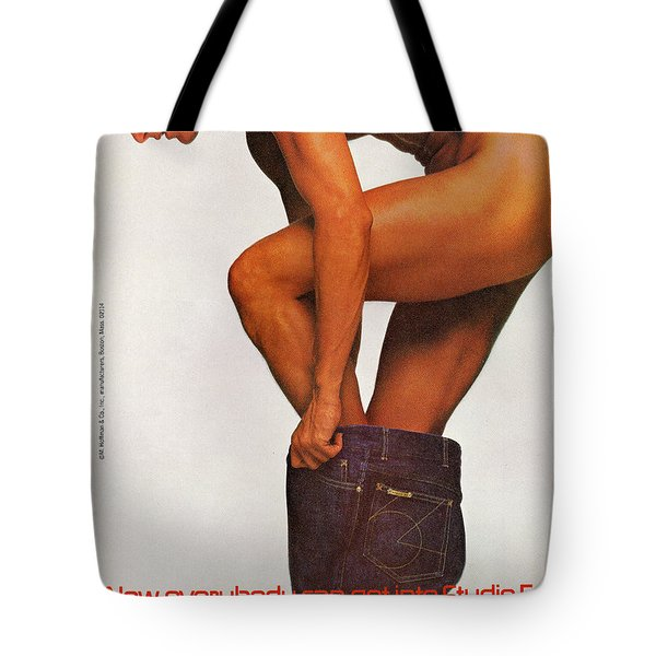 Tote Bag featuring the digital art Now Everybody Can Get Into Studio 54 by Reinvintaged