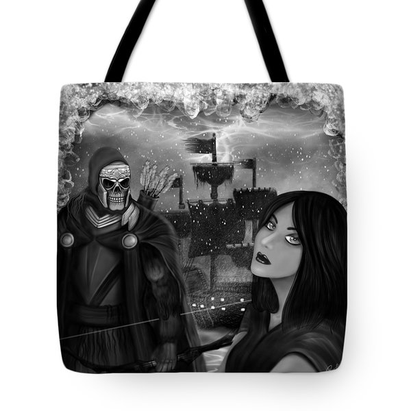Now Or Never - Black And White Fantasy Art Tote Bag