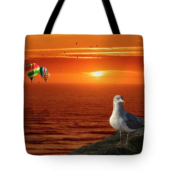 Now Those Are Funny Looking Birds Tote Bag