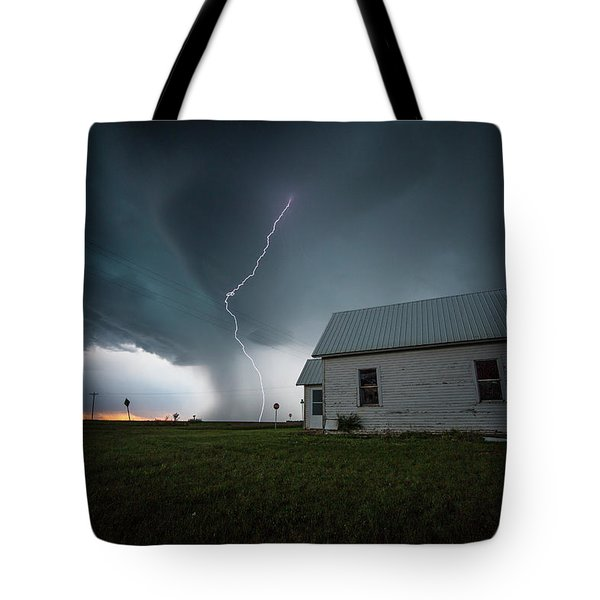 Tote Bag featuring the photograph Nowhere To Run by Aaron J Groen