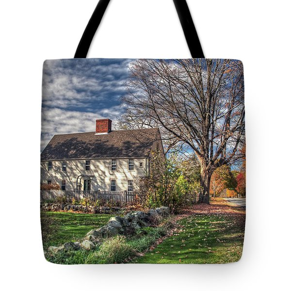 Tote Bag featuring the photograph Noyes House In Autumn by Wayne Marshall Chase