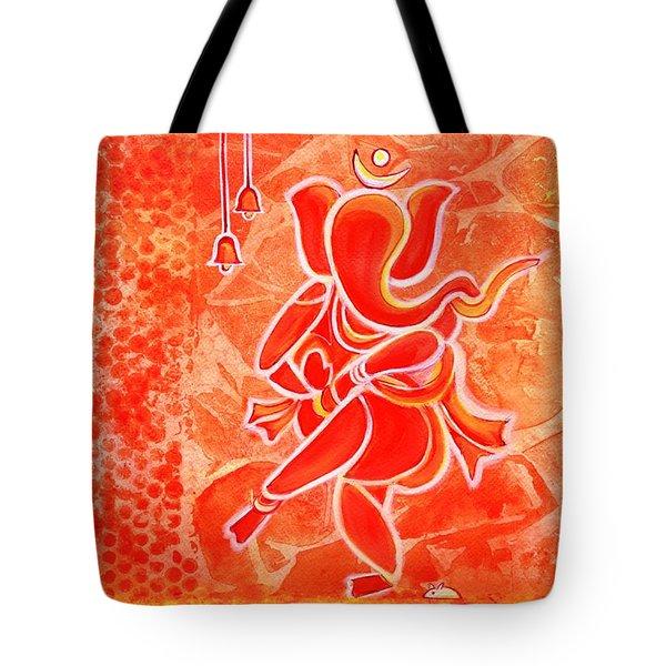 Nritya Ganesha- Dancing God Tote Bag