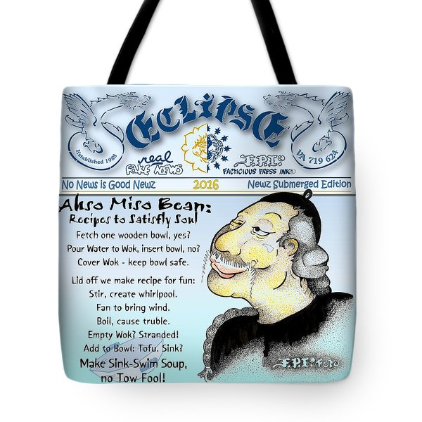 Real Fake News Recipe Column Tote Bag