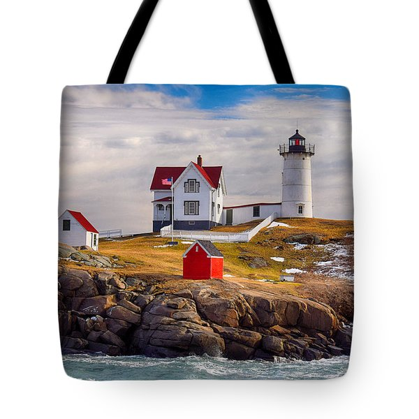 Nubble In Winter Tote Bag