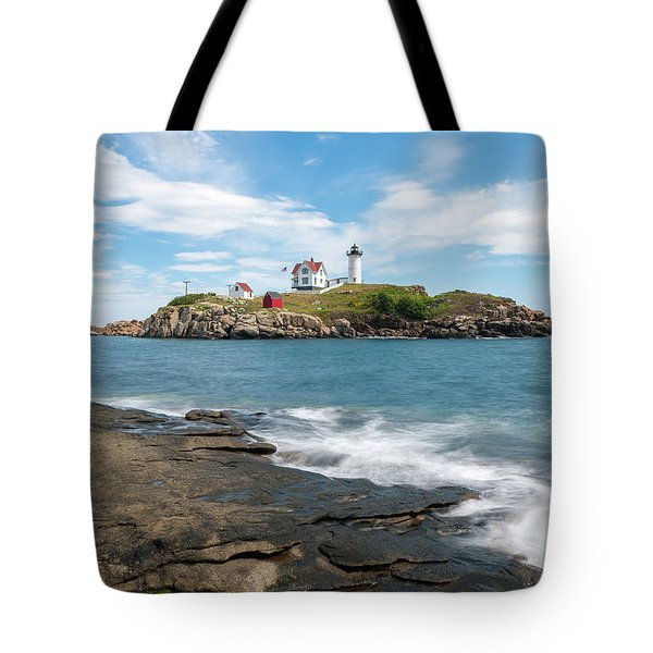 Tote Bag featuring the photograph Nubble Light IIi by Sharon Seaward