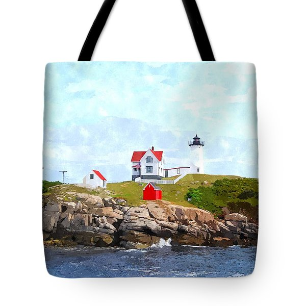 Nubble Light Nlwc Tote Bag by Jim Brage