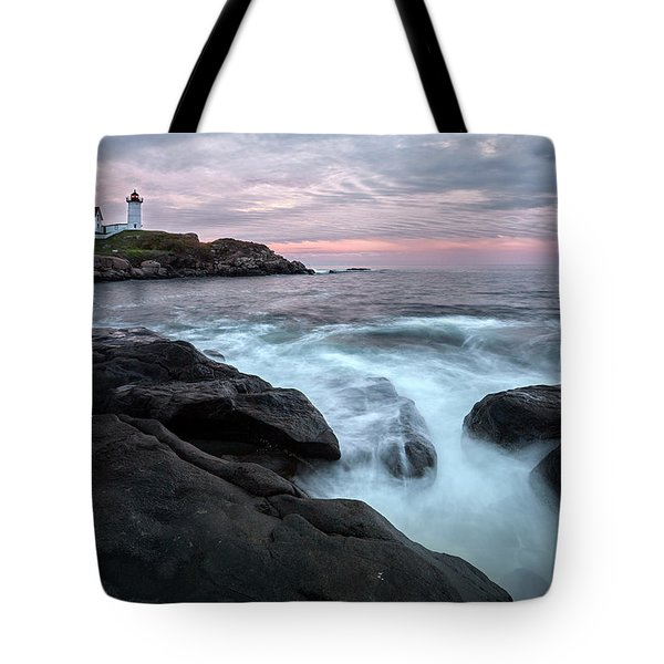 Nubble Lighthouse Of Maine Tote Bag