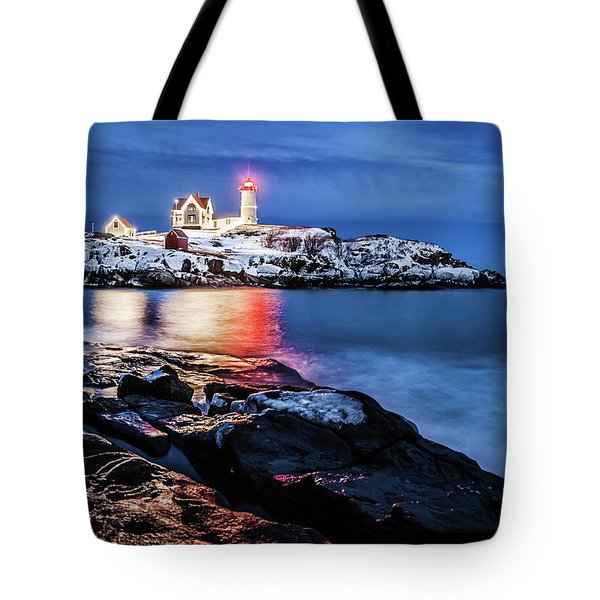 Nubble Lights Tote Bag by Robert Clifford