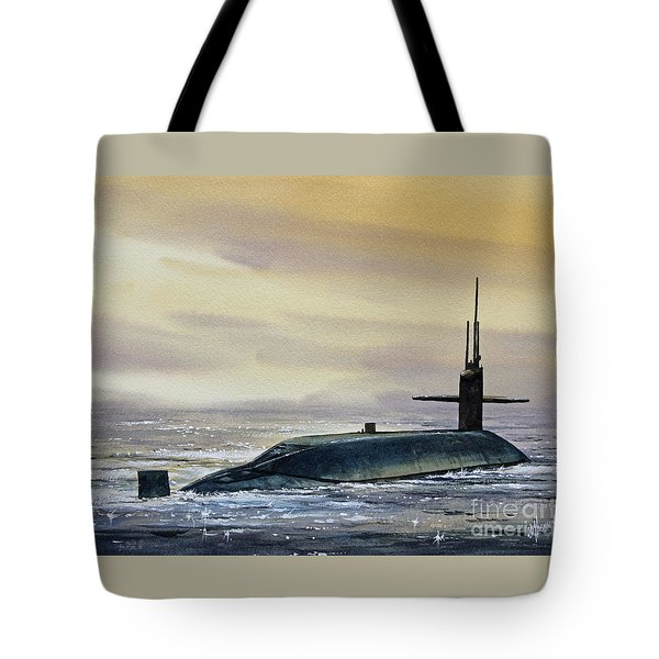 Nuclear Submarine Tote Bag by James Williamson