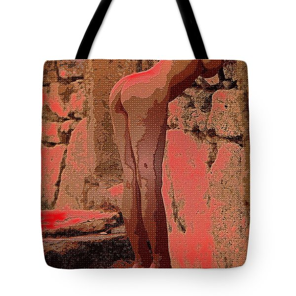 Nude 057 Tote Bag by Piety Dsilva