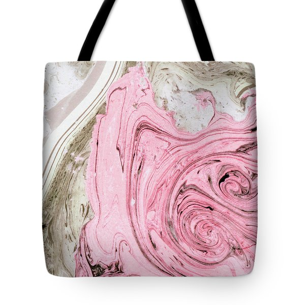 Nude And Pink Marbling Art Tote Bag
