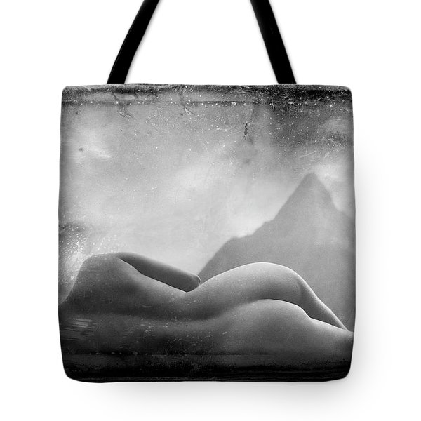 Tote Bag featuring the photograph Nude At Chinaman's Hat, Pali, Hawaii by Jennifer Wright