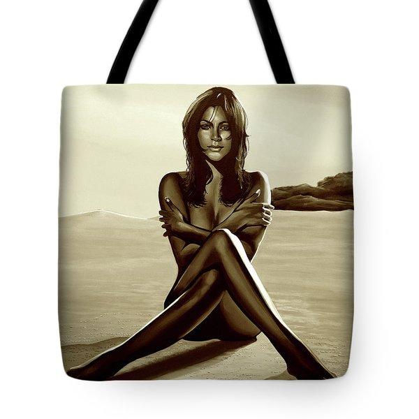 Nude Beach Beauty Sepia Tote Bag