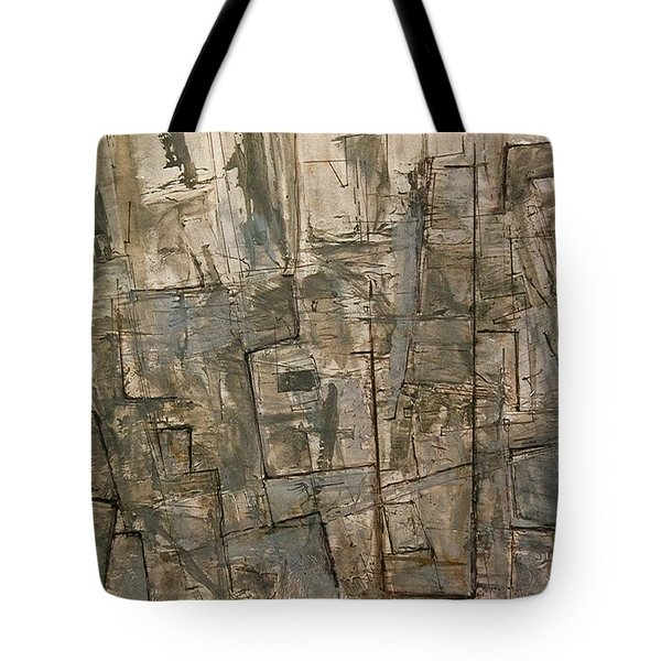Tote Bag featuring the painting Nude Descending Stairs In Nyc by Robert Anderson