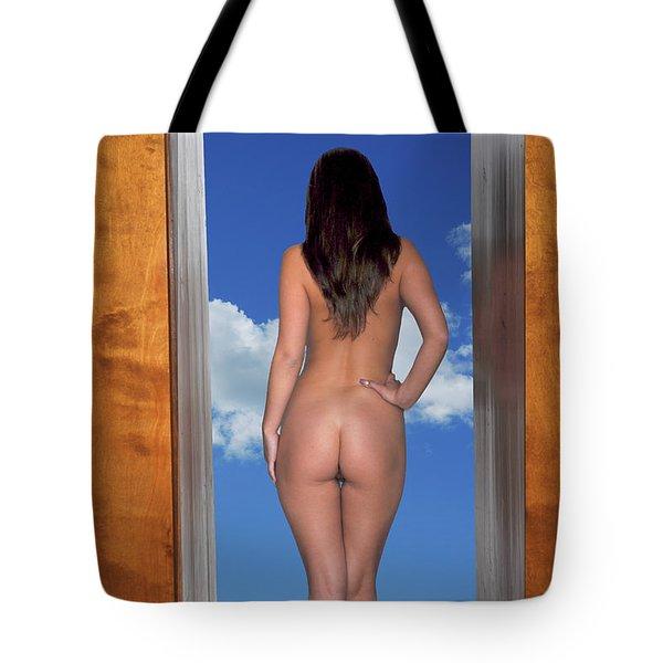 Nude Doorway Tote Bag