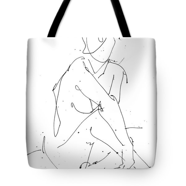 Nude-female-drawing-19 Tote Bag