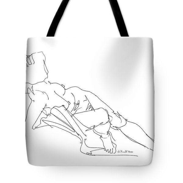 Nude Female Drawings 3 Tote Bag