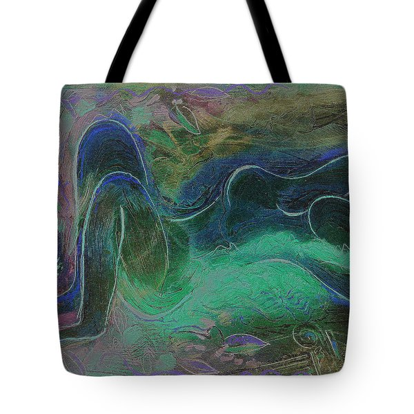 Nude Girl With Long Hair.  Tote Bag