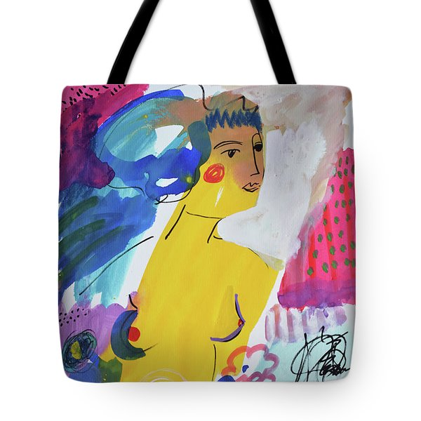 Nude In A Garden Tote Bag