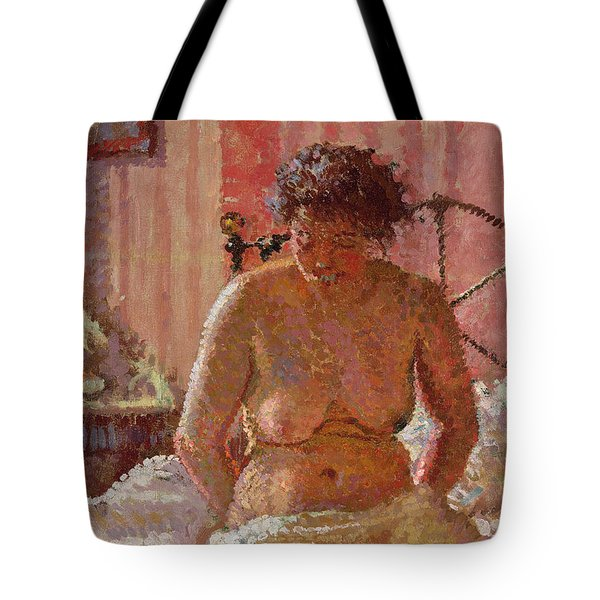 Nude In An Interior Tote Bag by Harold Gilman