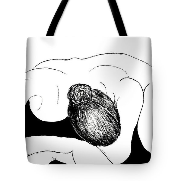 Nude In Supplication Tote Bag