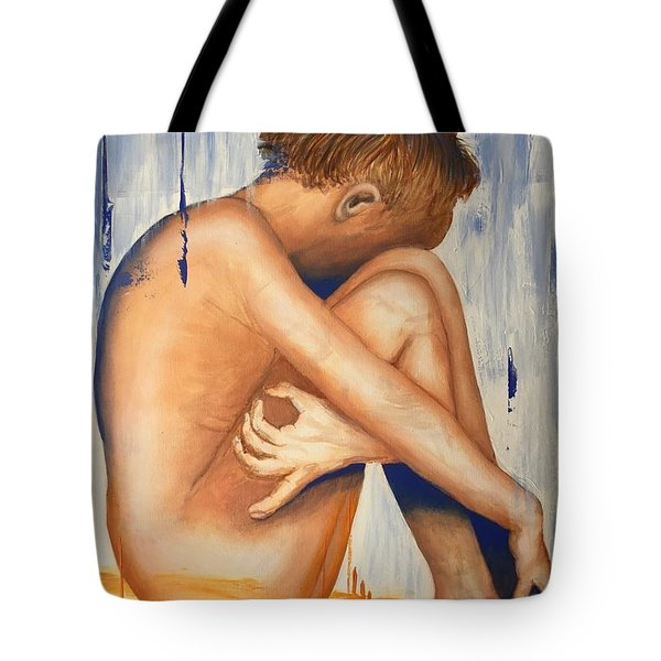 Nude In The Rain Tote Bag